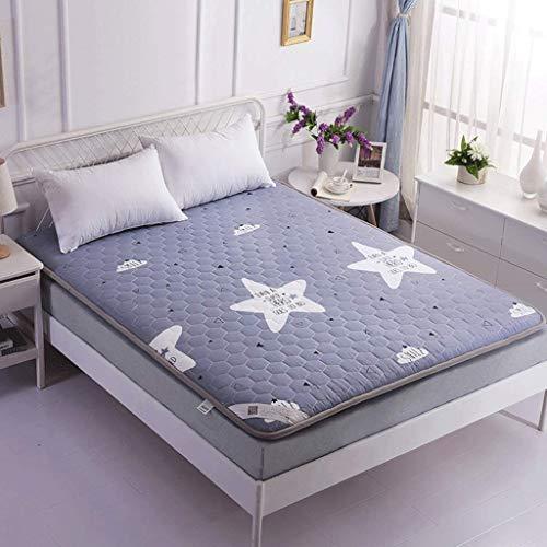 GONGFF Cotton Non-slip Tatami Mattress Thick Foldable Sleeping Mat (Color : 3, Size : 180x200cm)