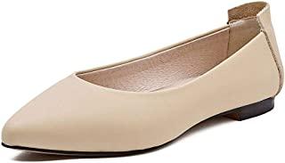 BLUMEN Women Flat Shoes Slip On Extremely Soft Light Beige