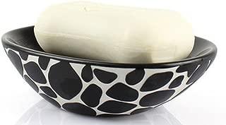 SSBY-Creative cobblestone ceramic fashion handmade soap, soap box, drain SOAP dish , black