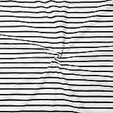 STOFFKONTOR 100% Baumwolle Jersey Stoff Sailor Stripes
