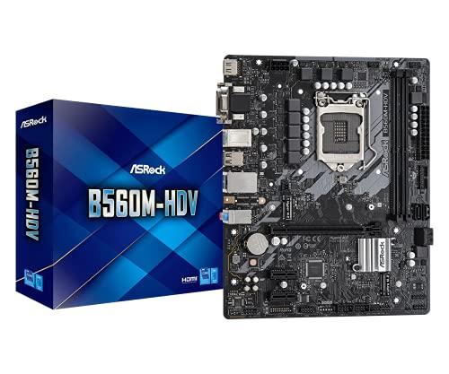 ASRock マザーボード B560 M-HDV Intel 10世代 ・ 11世代 CPU ( LGA1200 ) 対応 B560 Micro ATX マザーボード 【国内正規代理店品】