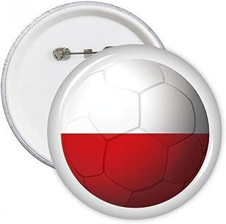 DIYthinker Pologne Drapeau national de football de football ronde Pins Bouton Badge Vêtements Décoration de cadeau Multico...