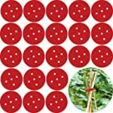 Boao 24 Pack Garden Stake Connectors, Circle Plant Support Stretch Stretchable Plant, Support Easy Plant Support Stretch 5 Hole,Teepee Trellis