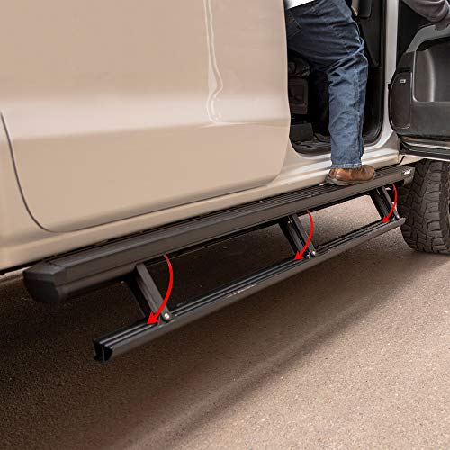 ARIES 3047975 ActionTrac 79-Inch Retractable Powered Running Boards, Select Jeep Gladiator