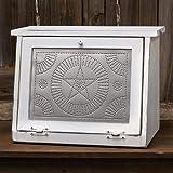 Farmhouse Star Bread Box, White