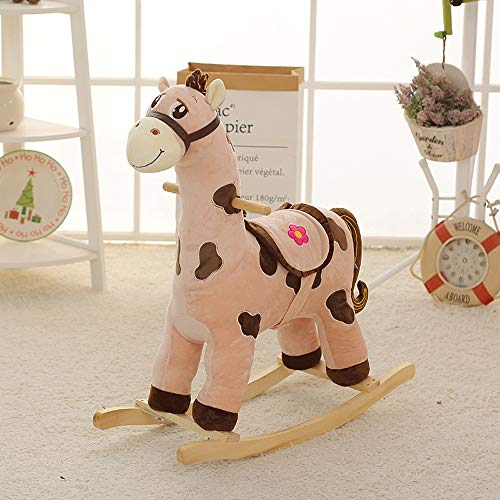 SXNYLY Baby Rocking Chair Rocking Horse (Boys and Girls) Stuffed Animal Rocking Chair, Toddler Children's Ride Toys, Adults Can Sit, Suitable for 1-3 Year Old Baby Toys (Color : D)