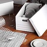 Amazon Basics Medium Duty Storage Filing Box with Lid - Pack of 12, Letter / Legal Size