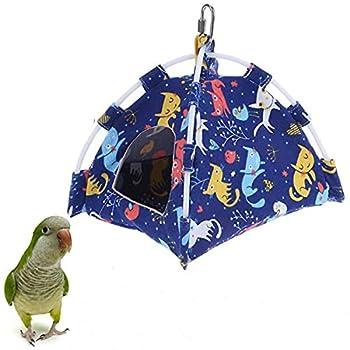 Vinnykud Perroquet Hamac Nid Doiseau Tente Suspendue Chaud Triangulaire Pet Cave Suspendu Lavable pour Parrot Perruche Calopsitte Cacatoès Canari Cage Jouet