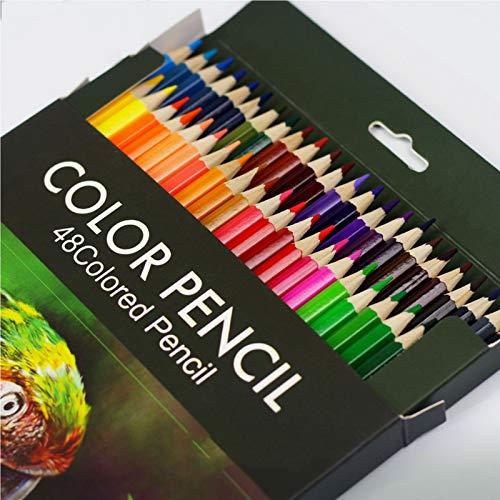 Lápices de Colores, Lápices de Colores Para Adultos, Pinturas de Madera, Lapices Colores Mandalas, 48 unidades Lapices de Colores de Madera, Lapices de Colores Para Niños
