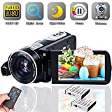 Video Camera Camcorder [2020 Upgraded] Weton 1080P Full HD Digital Vlogging Camera for YouTube 18X Digital Zoom 24.0Mega Pixels IR Night Vision Camcorders with 2 Rechargeable Batteries