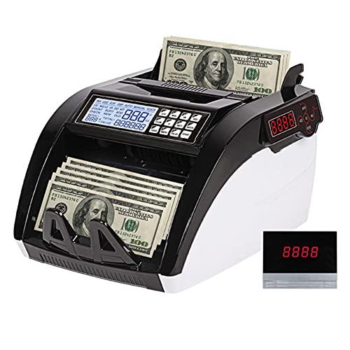 Kstyhome Mini contatore di banconote portatile Rilevatore di banconote contraffatte Rilevamento automatico di banconote Contabanconote a caricamento dall'alto tramite U-V...