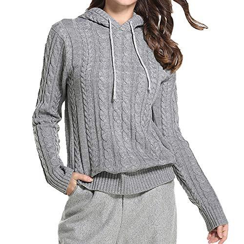N\P Otoño e Invierno Grande Casual Mujer Suéter con Capucha Suéter