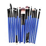 15 unids/Set Juegos de Pinceles de Maquillaje Kit de Base de Labios de pestañas en Polvo Sombra de Ojos delineador de Ojos cosmético Pincel de Maquillaje Herramienta de Belleza