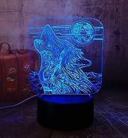 3DLEDアクリルRGBナイトライトUSBタッチコントロールホームデクロキッズデスクランプチャイルドクリスマスギフト