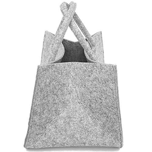 Sue-Supply Sac de cheminée Panier de Bois de Chauffage Sac de Rangement en Feutre Sac de Transport en Bois de Chauffage Panier de Rangement de bûches Pliable avec poignée Paniers de paniers à Linge