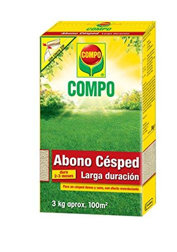 COMPO Abono césped larga duración de hasta 2-3 meses, para 100 m²,...
