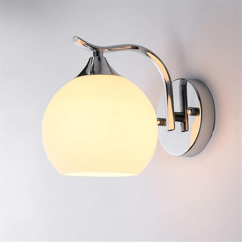 Niceamz Wandleuchten,Nachttischlampe Kreative Wandleuchte Wandleuchten Einzelkopf Doppelkopf Schlafzimmer Hotelzimmer Nachttischlampe Ganglicht Glasbeleuchtung (Lampen Nicht Im Lieferumfang Enthalten)