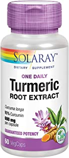 Solaray Turmeric Root Extract 600mg | One Daily | Healthy Joints, Cardiovascular System Support | Guaranteed Potency | 60 ...