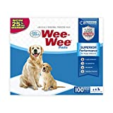 Wee-Wee Superior Performance Puppy Training Pee Pads 100-Count 22' x 23' Standard Size Pads for Dogs