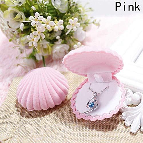 Mini Office Depot Damen Mädchen Schmuckkästchen Ohrringe Ring Schmuckdisplay für Halskette Etui(Rosa)