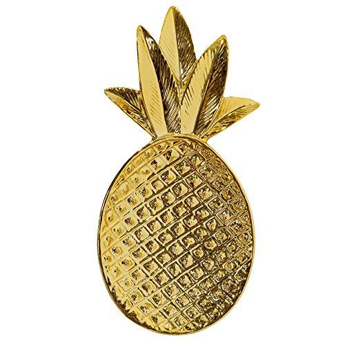 Enfeite Cr Pineapple, Casa Libre, Bl75231846, Dourado
