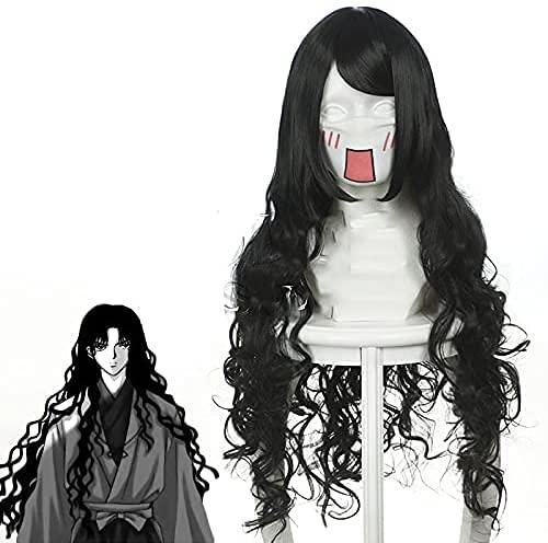 Anime Adulti Parrucche Posticci per Inuyasha Naraku/Alvida, Giornaliero Giochi Ruolo Feste Mostre Fumetti Carnevale Halloween con Cappuccio Parrucca