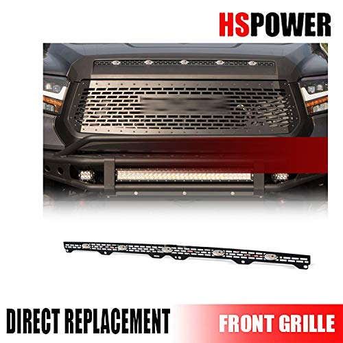 HS Power Hood Bulge Scoop Black Grille Mesh Insert with LED Lights 2014-2020 For Toyota Tundra