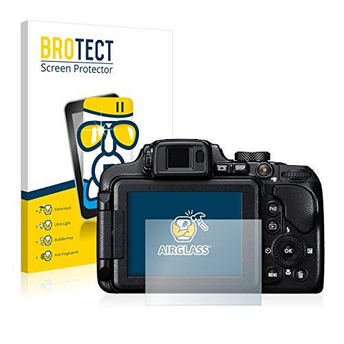 brotect Pellicola Protettiva Vetro Compatibile con Nikon Coolpix B700 Schermo Protezione, Estrema Durezza 9H, Anti-Impronte, AirGlass