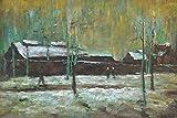 1art1 Vincent Van Gogh - Der Alte Bahnhof In Eindhoven, 1885 XXL Poster 120 x 80 cm