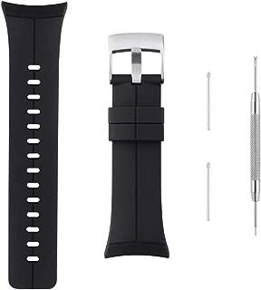 Sencato Suunto Spartan Ultra HR Luxury Version Soft Silicone Replacement Band, Wrist Strap (Black)
