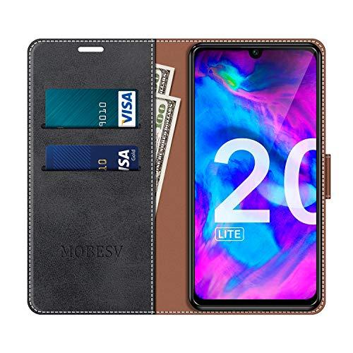 MOBESV Handyhülle für Huawei P Smart Plus 2019, Honor 20 Lite Hülle Leder, Huawei P Smart+ 2019 Klapphülle Handytasche Case für Huawei P Smart Plus 2019 / Honor 20 Lite Handy Hüllen, Schwarz - 4