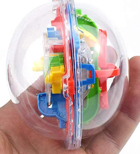 Amyove Zauberwürfel Kinder Intelligenz Labyrinth Zauberwürfel Spielzeug 3D Perle Labyrinth Magische Intelligenz Ball Zufällige Farbe