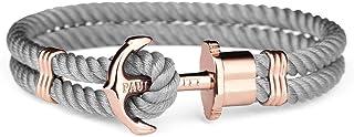PAUL HEWITT Bracelet Femme PHREP Ancre - Cadeau Femme, Bracelet Femme Style Cordage avec Fermoir Ancre en INOX plaqué Or (...