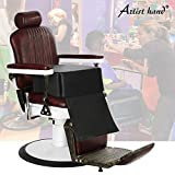 Artist Hand Children Leather Cushion Oversize Barber Salon Booster Seat,Spa Equipment Black