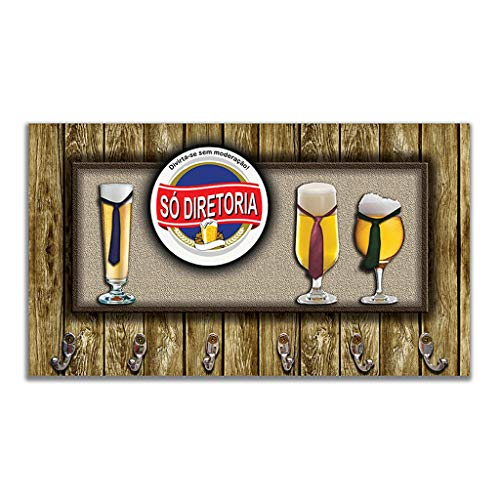 Cabideiro de Parede Porta Chaves Toalhas - Cerveja