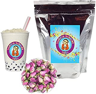 Rose Boba / Bubble Tea Drink Mix Powder By Buddha Bubbles Boba 10 Ounces (283 Grams)