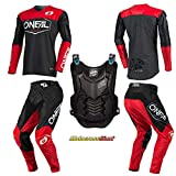 Oneal Mayhem-Lite Hexx Red Jersey Pant Chest Protector Combo (LRG/W34)