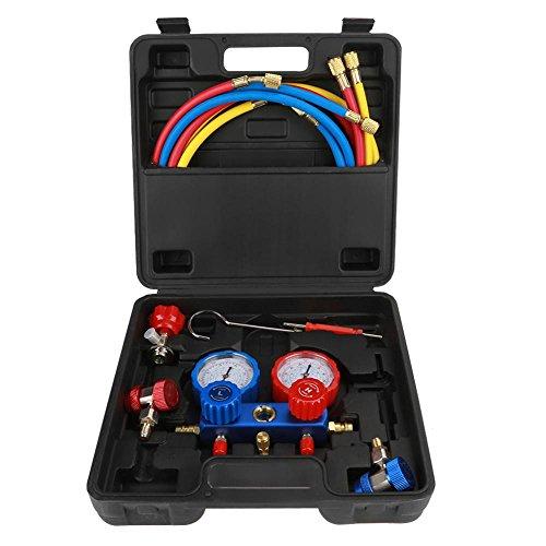 Medidor De Aire Acondicionado, Conjunto De Herramientas De Manómetro De Refrigeración R134A Con Ma
