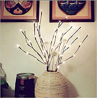 Pack of 10 LED Light Olive Branch Lighted Tree Branches LIT Night Centerpieces Artificial Willow Twig Ideal Home Living Ro...