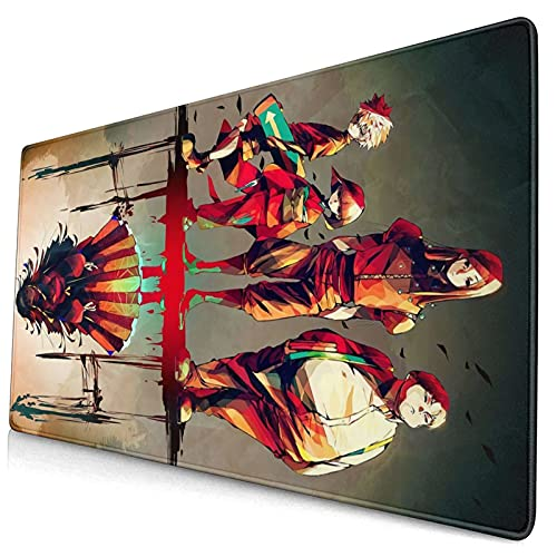 Hunterhunter Gaming Mouse Pad Large Extended Mouse Pads Nonslip Base Stitched Edge Mouse Mat Waterproof Keyboard Pad Comfy Desk Pad For Computer/Office/Home