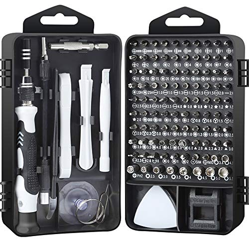 Precision Screwdriver Set Multi Bit Case Magnetic Repair Tool Kit for Knife iPhone Mac iPad Tablet Laptop Xbox PS3 PS4 Nintendo Game Consoles Eyeglasses Watch Cellphone PC Camera Electronics (AT117BL)