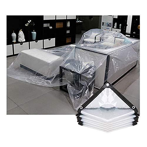 WZNING Tarpaulin impermeable impermeable de alta resistencia PVC Toldo de PVC Toles de refugios Gazebos Muebles de jardín Cubiertas de tela de protección solar Láminas de plástico con ojales, 20 tamañ