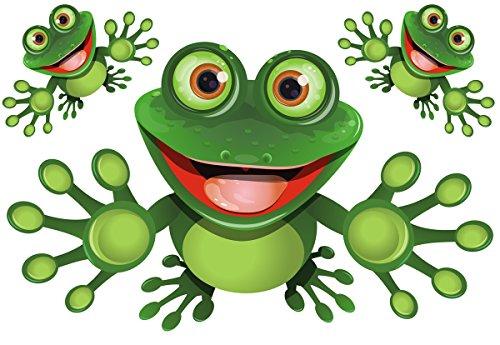 Funny Frog - Lustiger Frosch - Autoaufkleber - Funny Frog Set 03