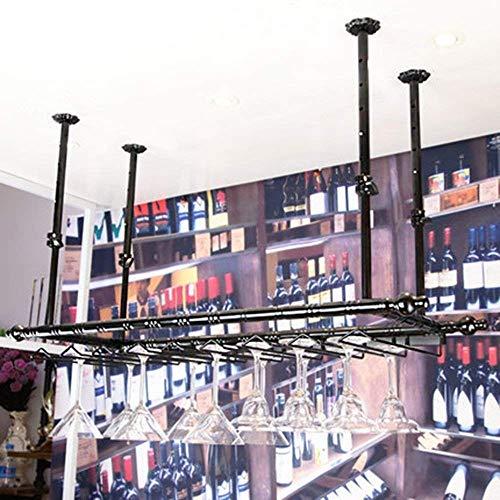 Flaschenregal Weinregal-Halter-Speicher Wohn Rack-Weinregal Restaurt Weinregal, dekorative Weinregal, Weinregale Bar Weinglashalter Hging Rotwein-Glas-Rack Kopf gestellt Becherhalter zu Ccomplim WTZ01