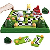 Nueplay Kids Smart Board Games Skill-Building Brain Logic Game STEM Educational Learning Toys Family Party Travel Games 48 Fun Challenges Puzzles Toys Ages 3 4 5 6+ Years Old Boys Girls Adults Gifts