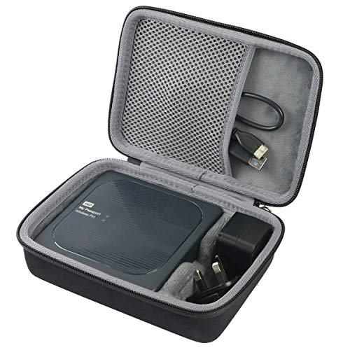 co2CREA Duro Viajar Caso Cubrir para WD My Passport Wireless Pro Disco Duro Externo portátil de 1 TB /2 TB /3 TB /4 TB(Travel Case)