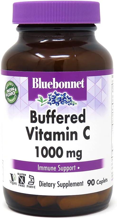 BlueBonnet Latest Popular overseas item Nutrition Buffered Vitamin Capsule Vegetable mg C1000