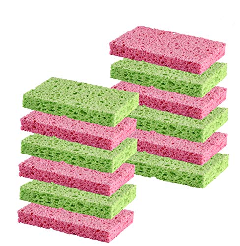 Cleaning Scrub Sponge by Scrubit Assorted Colors  NonScratch 12 Pack Colors May Vary