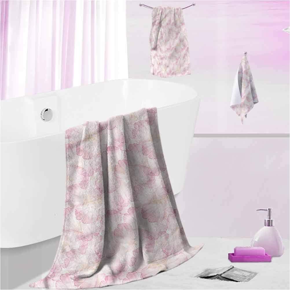 DayDayFun Bath Towels Set Arlington Mall 70% OFF Outlet Pastel for Funny Kids Bathroom
