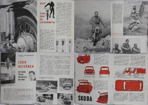 Motor Revue, tschechoslowakische Zeitschrift;Esko Keinänen- der beste Skoda - Rennfahrer der Welt ; Jaroslaw Pudil CZ 250,Die Stossdämpfer JAWA und CZ; SKODA Octavia Combi